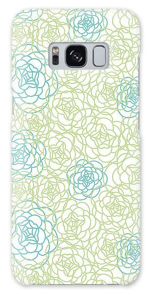 Decorative Galaxy Case - Floral Lines by MGL Meiklejohn Graphics Licensing