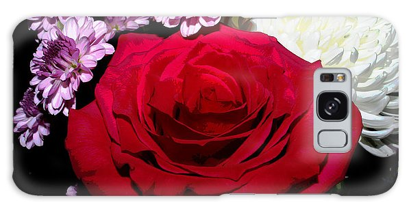 Floral Arrangement - Posterized Galaxy Case by Ron Grafe