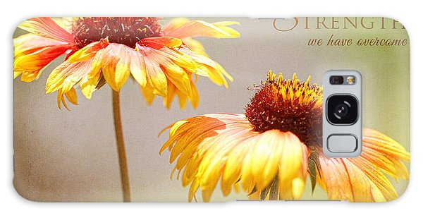 Floral Sunshine With Message Galaxy Case