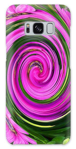 Floral Swirl 2 Galaxy Case by Margaret Saheed