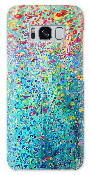 Floral Symphony Galaxy Case by Stacey Zimmerman