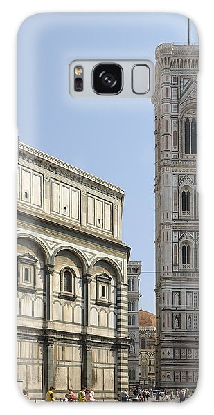 Florence Bell Tower And Duomo Piazza Galaxy Case
