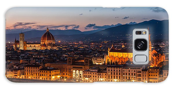 Florence City At Night Galaxy Case