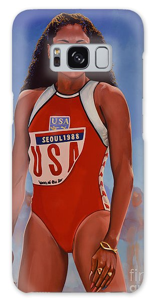 Sportsman Galaxy Case - Florence Griffith - Joyner by Paul Meijering