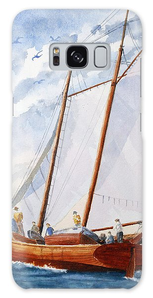 Florida Catboat At Sea Galaxy Case