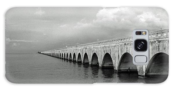 Florida Keys Seven Mile Bridge Black And White Galaxy Case by Photographic Arts And Design Studio