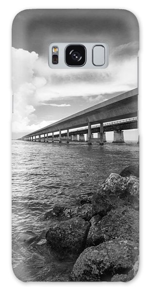 Florida Keys Seven Mile Bridge South Bw Vertical Galaxy Case by Photographic Arts And Design Studio