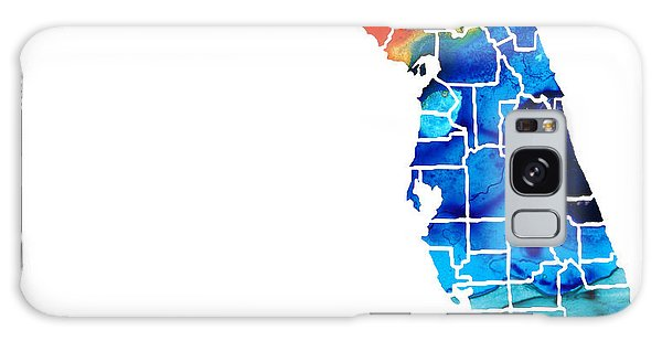Bradenton Galaxy Case - Florida - Map By Counties Sharon Cummings Art by Sharon Cummings