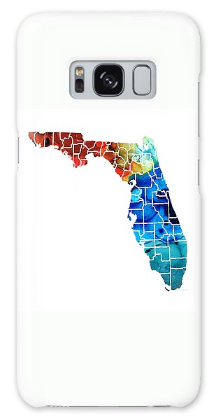 Florida - Map By Counties Sharon Cummings Art Galaxy Case by Sharon Cummings