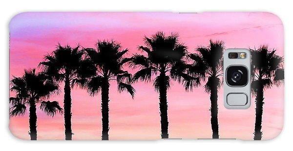 Florida Palm Trees Galaxy Case by Elizabeth Budd