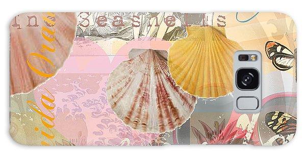 Florida Seashells Collage Galaxy Case