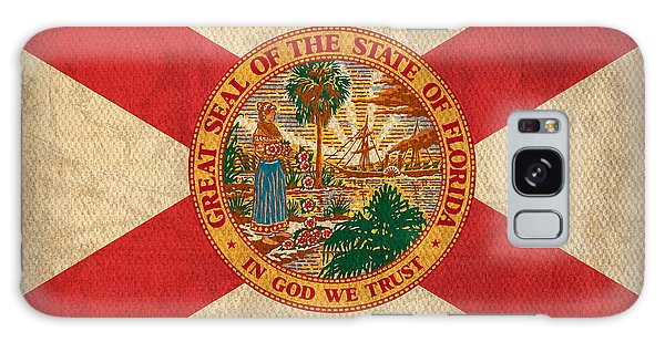 Florida State Flag Art On Worn Canvas Galaxy Case by Design Turnpike
