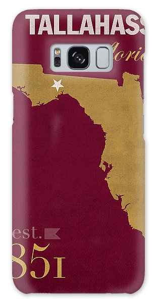 Florida State University Seminoles Tallahassee Florida Town State Map Poster Series No 039 Galaxy Case by Design Turnpike