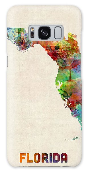 Florida Watercolor Map Galaxy Case by Michael Tompsett