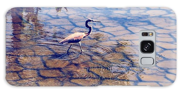 Florida Wetlands Wading Heron Galaxy Case by David Mckinney