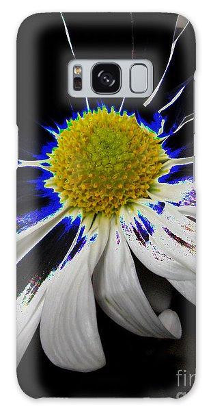 Art. White-black-yellow Flower 2c10  Galaxy Case