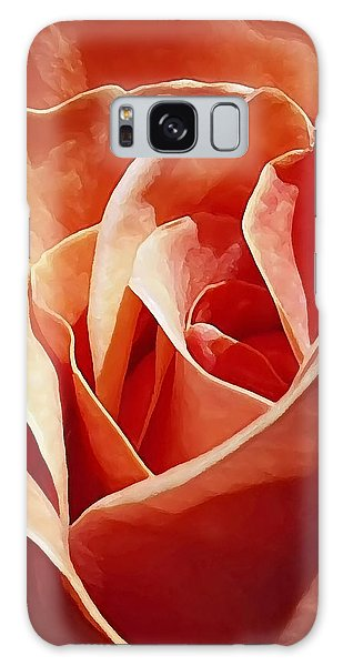 Flower Abstract In Orange Galaxy Case