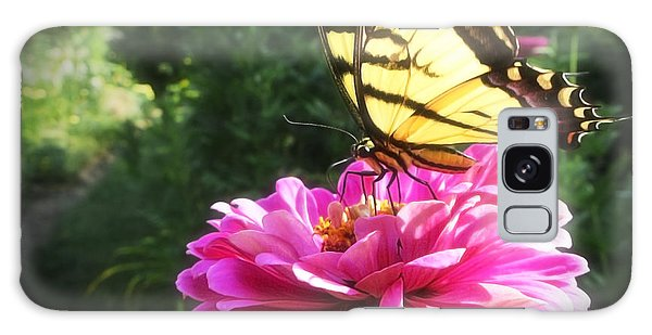 Flower And Butterfly Galaxy Case by Nicola Nobile