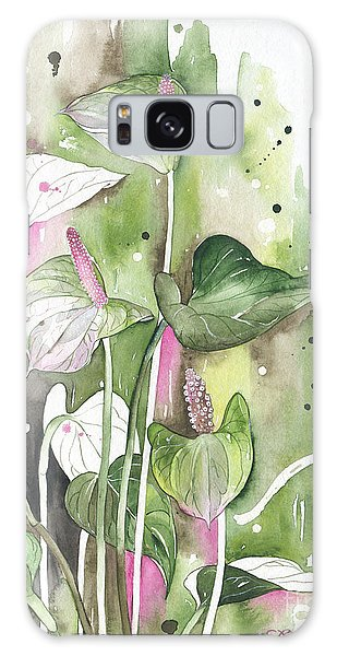Flower Anthurium 04 Elena Yakubovich Galaxy Case by Elena Yakubovich