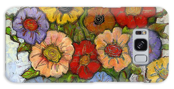 Colorful Galaxy Case - Flower Bouquet by Blenda Studio
