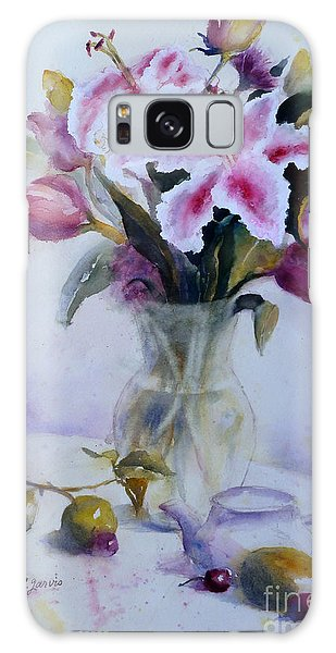 Flower Bouquet With Teapot And Fruit Galaxy Case