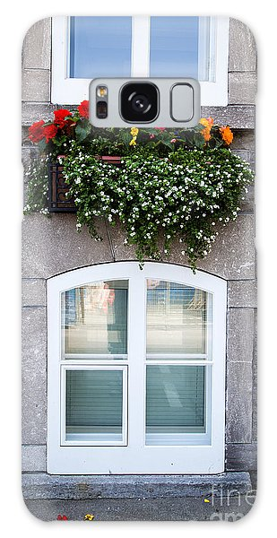 Quebec City Galaxy Case - Flower Box Old Quebec City by Edward Fielding