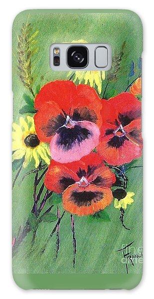 Flower Bunch Galaxy Case by Francine Heykoop