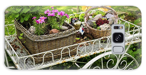 Gardens Galaxy Case - Flower Cart In Garden by Elena Elisseeva