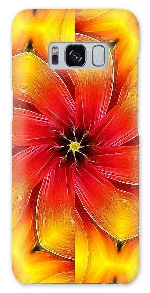 Flower Close-up--fractalius Kaleidoscope Galaxy Case
