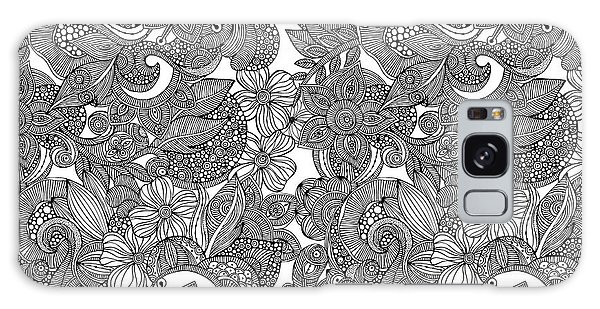 Colours Galaxy Case - Flower Doodles by MGL Meiklejohn Graphics Licensing