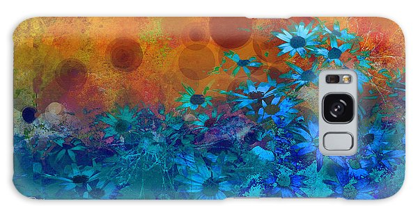 Flower Fantasy In Blue And Orange  Galaxy Case