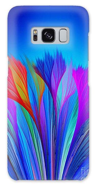 Flower Fantasy In Blue Galaxy Case