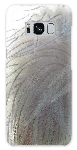 Galaxy Case featuring the photograph Floral Feathers by Ramona Johnston