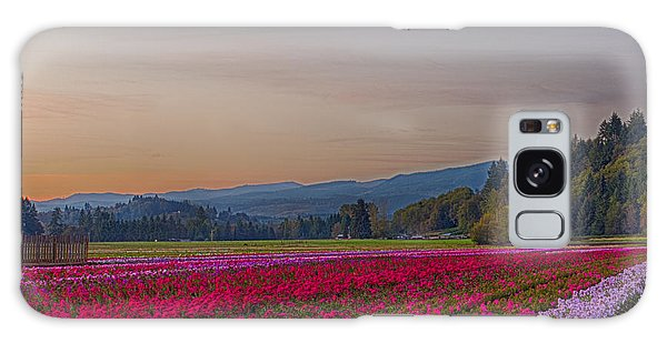 Flower Field At Sunset In A Standard Ratio Galaxy Case