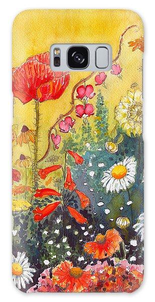 Flower Garden Galaxy Case by Katherine Miller
