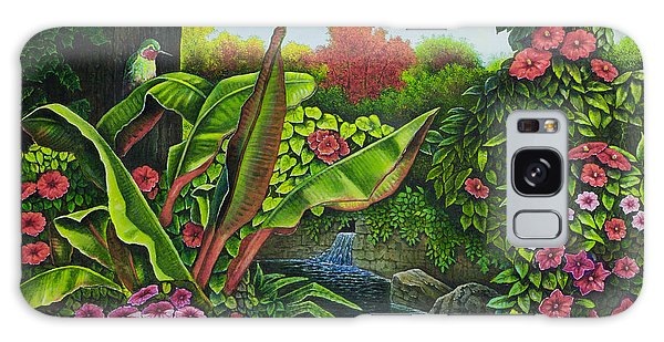 Flower Garden Vi Galaxy Case by Michael Frank