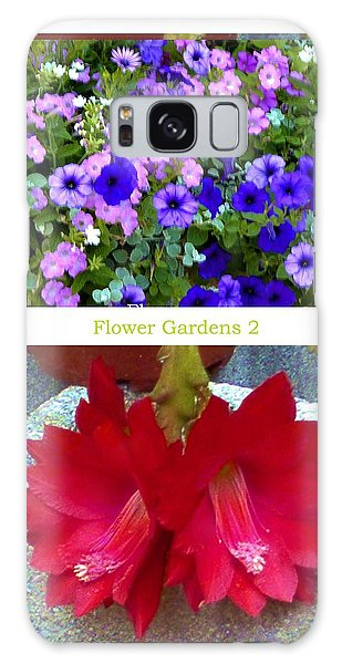 Flower Gardens B Galaxy Case