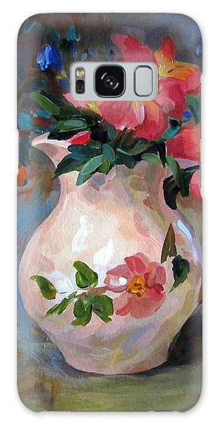 Flower In Vase Galaxy Case by Jieming Wang