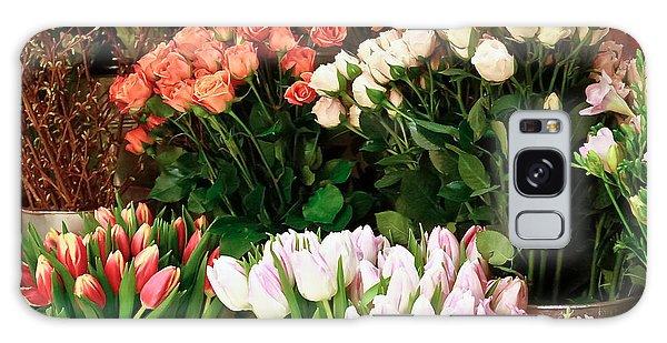 Flower Market Galaxy Case by Ann Murphy