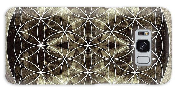 Buddhism Galaxy Case - Flower Of Life Silver by Filippo B