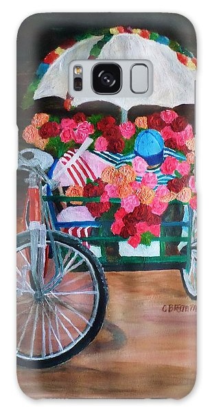 Flower Peddler Galaxy Case by Christy Saunders Church