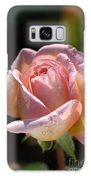 Flower-pink And Yellow Rose-bud Galaxy Case