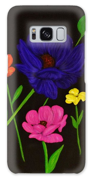 Flower Play Galaxy Case by Celeste Manning