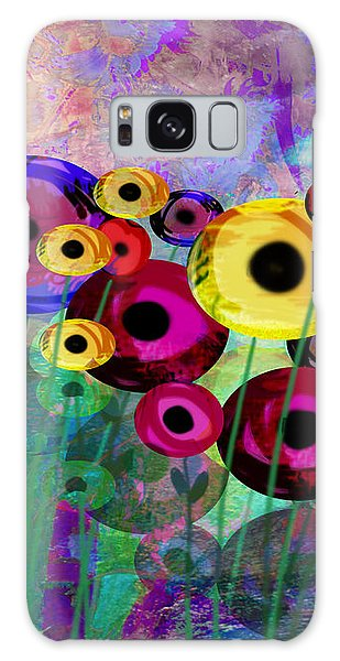 Flower Power Abstract Art  Galaxy Case