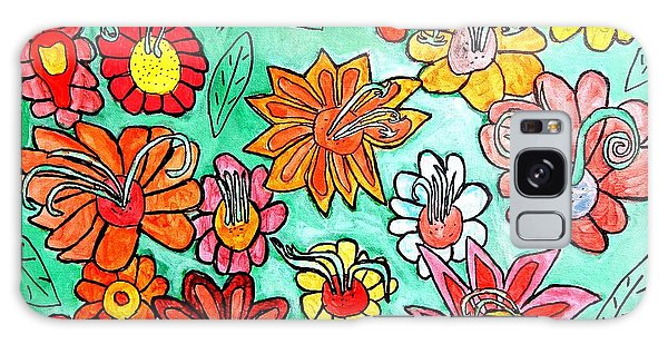 Flower Power Galaxy Case by Artists With Autism Inc
