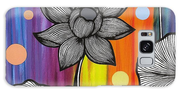 Galaxy Case featuring the painting Flower Power by Carla Bank