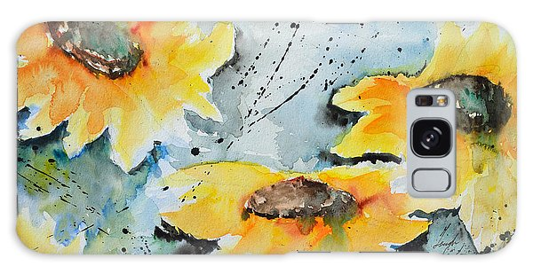 Flower Power- Floral Painting Galaxy Case