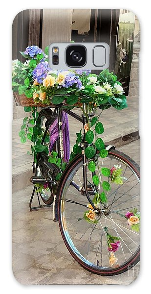 Flower Power Meets Pedal Power  Galaxy Case