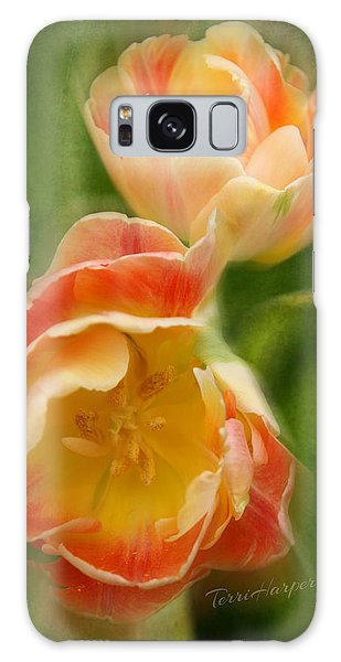 Flower Power Revisited Galaxy Case by Terri Harper