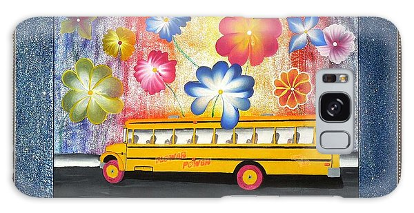 Flower Power Galaxy Case by Ron Davidson